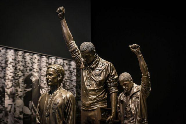 Estatua en el Museo de la Historia y Cultura Afroestadounidense.