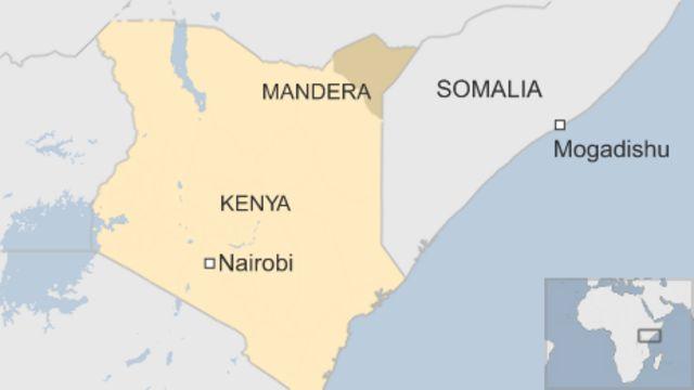 ケニア・マンデラ県の位置