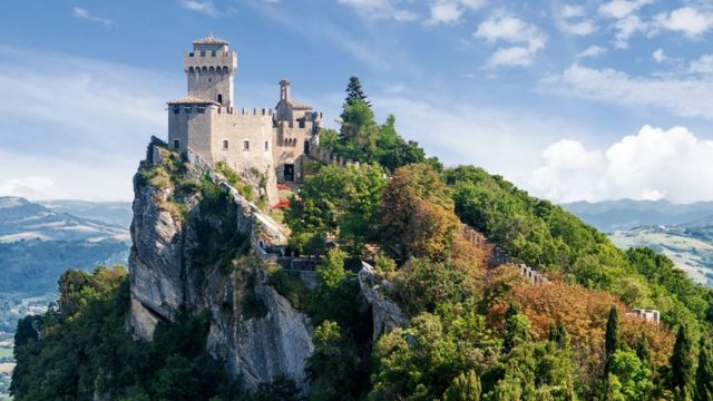 Torre Cesta o Fratta, en San Marino