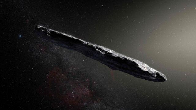 Oumuamua, objeto espacial alongado