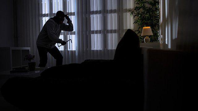 Burglar in home