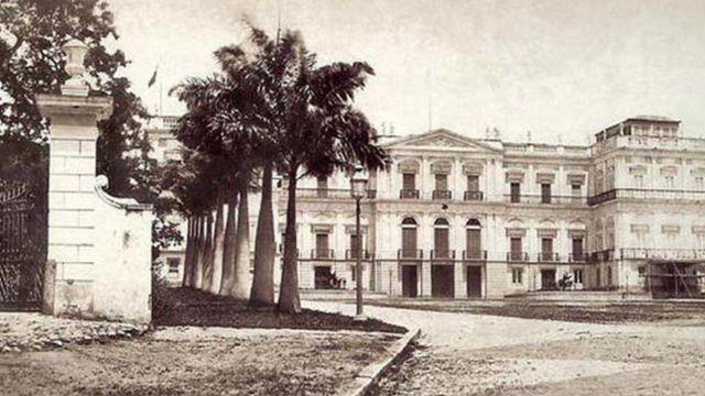 Imagem histórica do Palácio Imperial