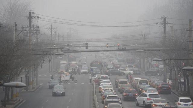 Contaminación del aire en Beijing.