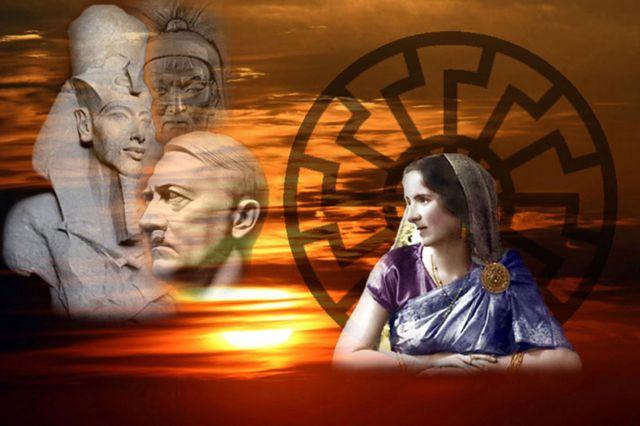 హిట్లర్ను ఆరాధనగా చూస్తున్న సావిత్రి దేవి చిత్రం