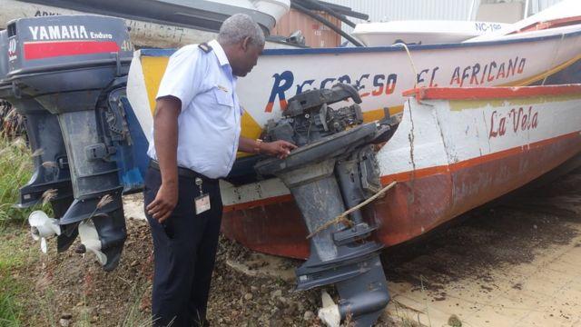 Balsas confiscadas por el servicio de Guardacostas de Curazao.