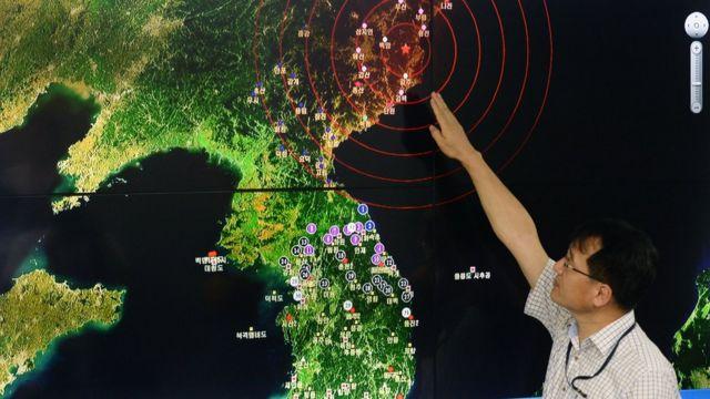 풍계리 인근 인공지진을 설명하고 있는 기상청