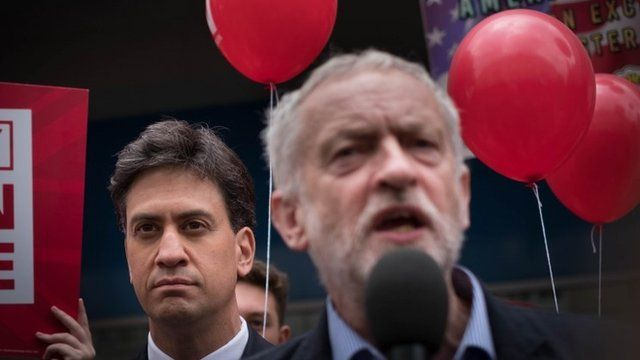Ed Miliband and Jeremy Corbyn