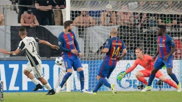 Le Barça a de nouveau lourdement chuté, cette fois à Turin, dans le cadre de la première manche des quarts de finale de la Ligue des champions (3-0).