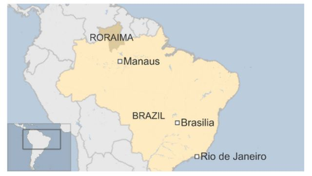 Brazil, Roraima map