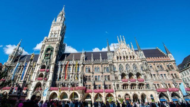 Cảnh trung tâm thành phố Munich, nơi ông Lê Thanh Nhàn hiện sinh sống