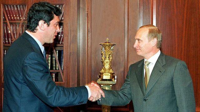 Boris Nemtsov y Putin.