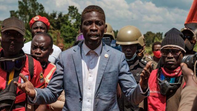 Bobi Wine campaigning