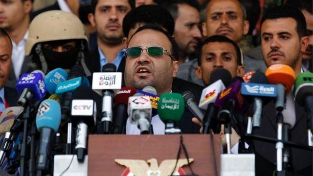 Salah al-Sammad, chef de file des Houthi au parlement le 20 août 2016.