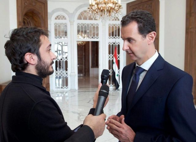 الرئيس بشار الأسد في مقابلة صحفية