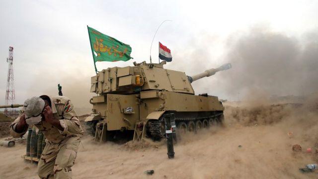 دبابة مشاركة في العمليات