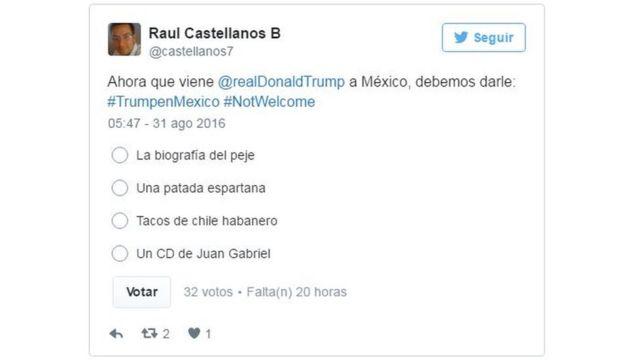 Tuit de Raúl Castellanos B