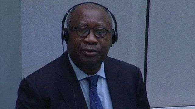 Ex-President Laurent Gbagbo at the ICC trial