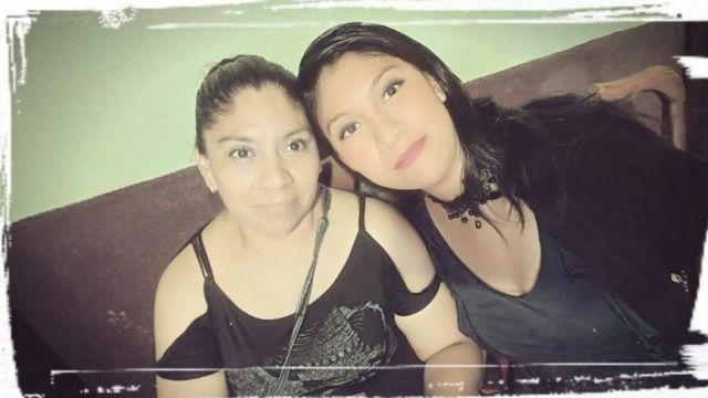 Esmeralda Millán en el cumpleaños de su mamá antes del ataque.