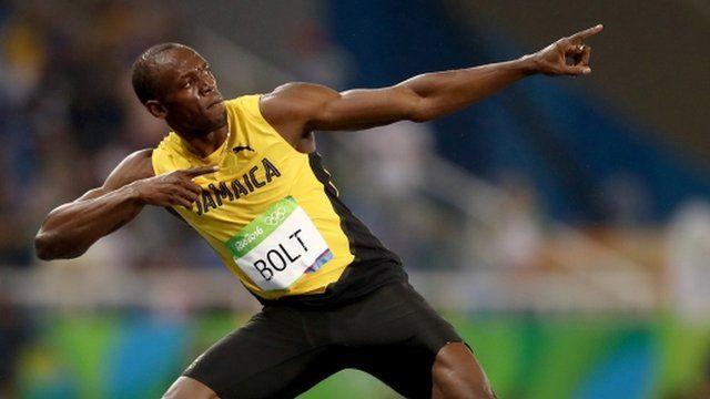 Bolt celebró su octava medalla de oro olímpica.