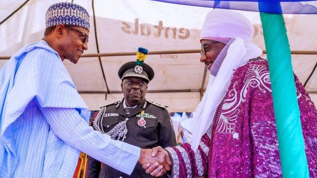 Emir Sanusi and President Muhammadu Buhari