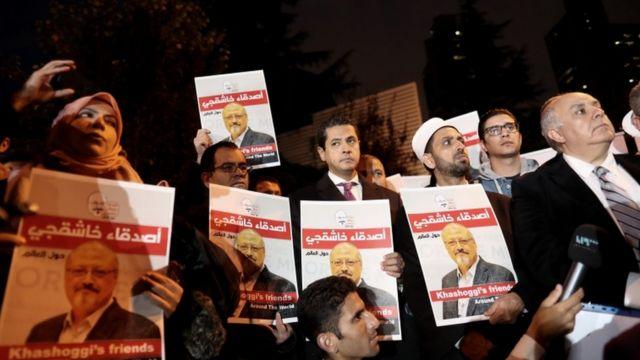 احتجاج قبالة القنصلية السعودية في اسطنبول للمطالبة بالعدالة لخاشقجي