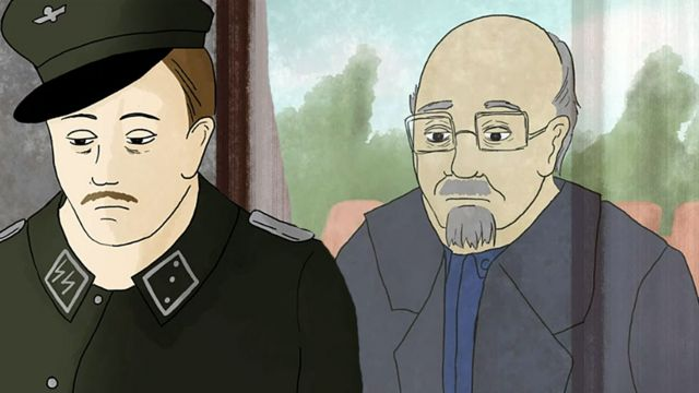 Dibujo del doctor Münch antes y después