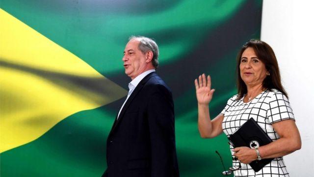 Kátia Abreu e Ciro Gomes