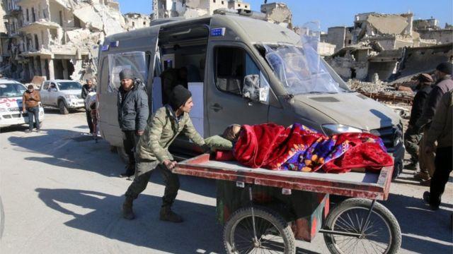 مدنيين في شرقي حلب