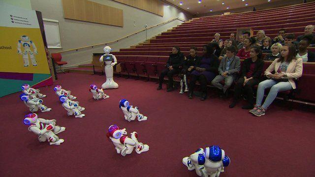 Robots in classroom