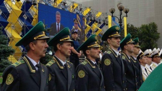 Войска украины на параде