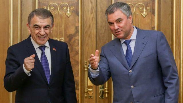 Ара Баблоян (слева) и Вячеслав Володин