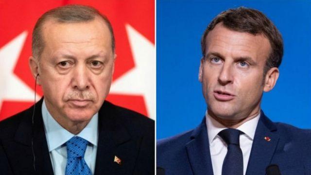 اردوغان و مکرون