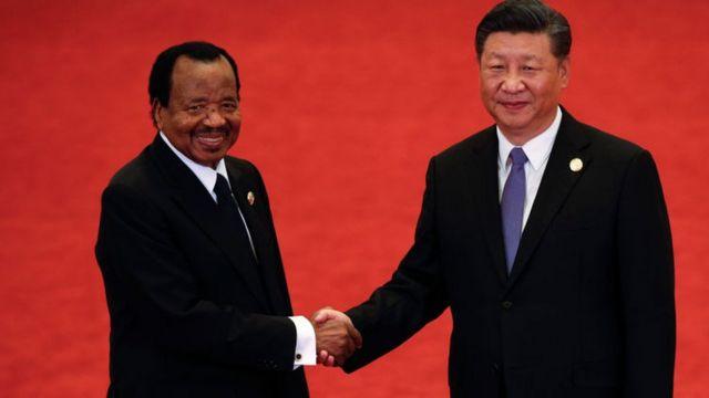 Cameroon Presido and China presido Xi Jinping
