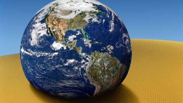 Planeta Tierra con vista de América