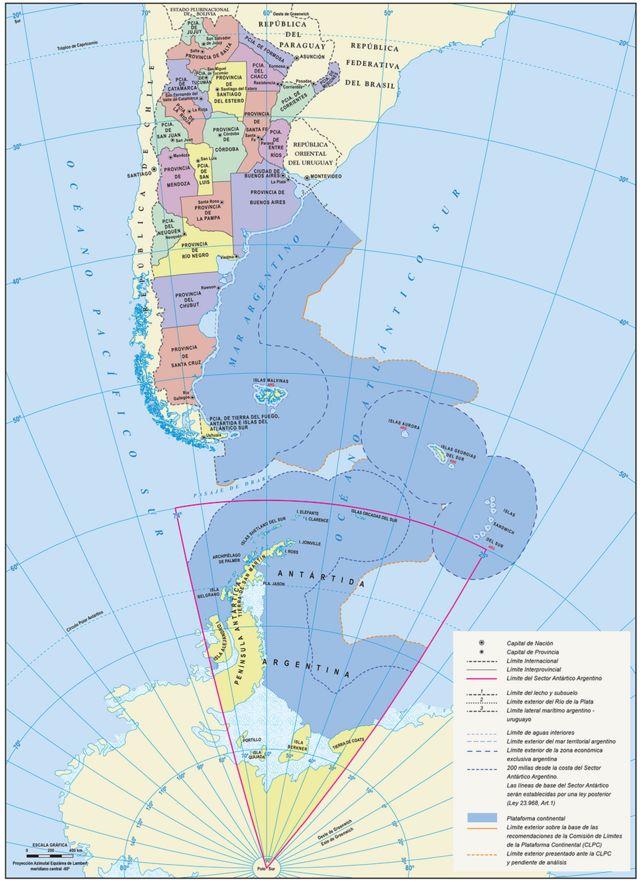 El nuevo mapa oficial de Argentina