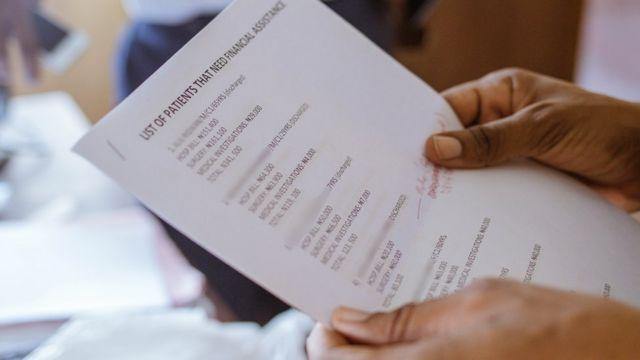 Lista de pacientes que precisam de ajuda para deixar hospital
