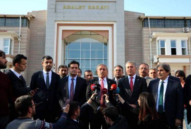 Çubuk Adliyesi'ne giderek şikayetçi olan CHP'liler