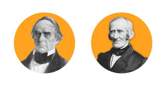 Abogados de Mundrucu: Daniel Webster (izquierda) y David Lee Child (derecha)