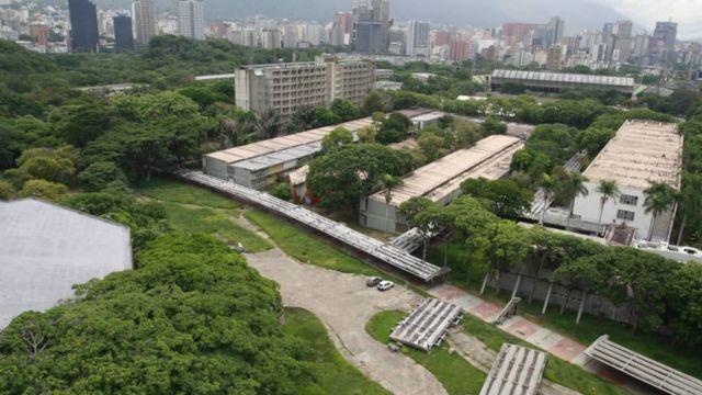 Vista aérea de la Ciudad Universitaria de Caracas.