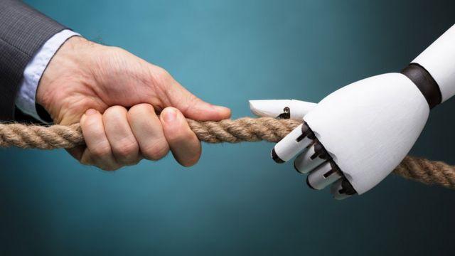máquina y humano