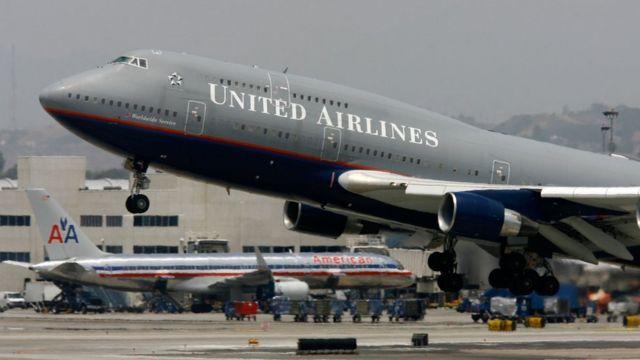 Aviones de United Airlines y American Airlines.