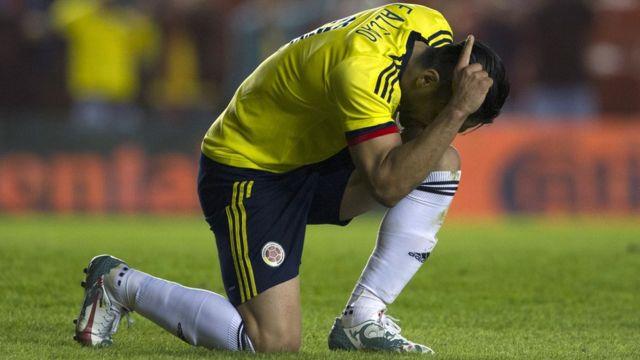 Falcao celebra su gol contra Costa Rica en 2015