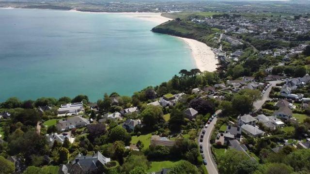 2021的七国集团G7峰会举办地点是英国康沃尔郡的卡比斯湾(Carbis Bay)(photo:BBC)