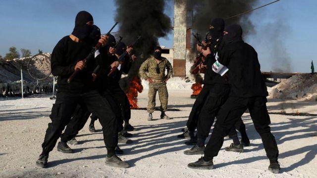 бойцы мятежных формирований в Идлибе в 2016 году