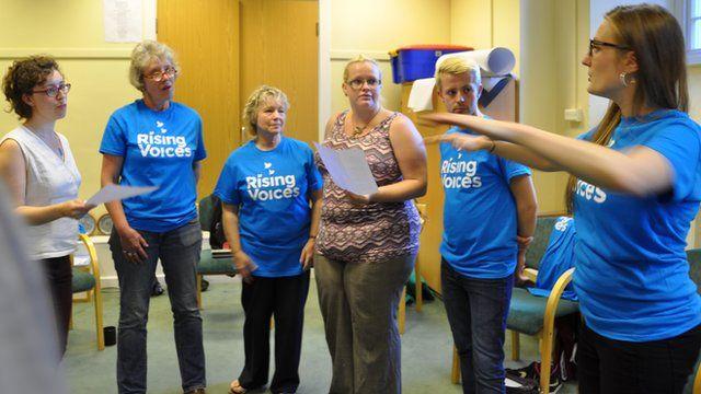Rising Voices choir rehearsal