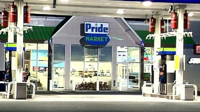 Pride petrol station in the city of Chicopee