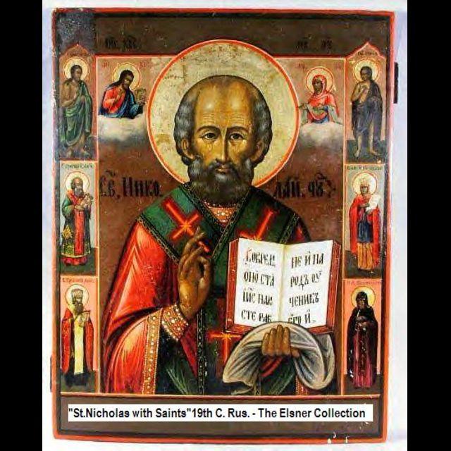 Ícone russo de São Nicolau