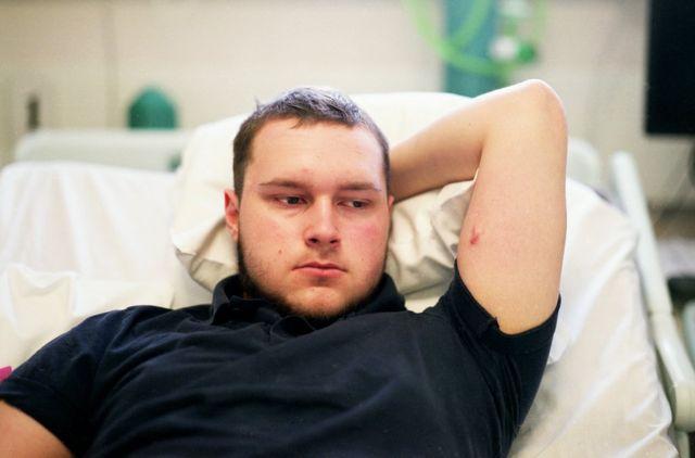 Joe no London's Royal Marsden Hospital