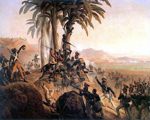 Batalha de São Domingo, quadro que representa a independência do Haiti