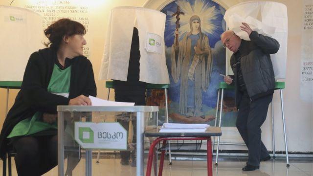 Избиратель в Тбилиси